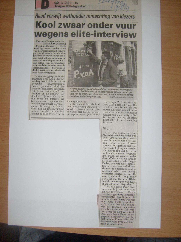 Henk Kool minacht de kiezer