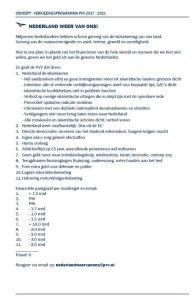 PVV programma 2017